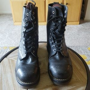 Dr. Martens Black Boot Steel Toe Sz 9 Unisex Shoes